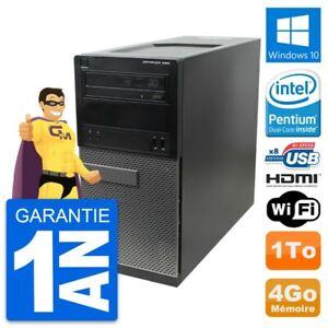 PC Tour Dell OptiPlex 390 MT Intel G630 RAM 4Go Disque 1To HDMI Windows 10 Wifi
