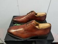 Magnanni Chance Leather Brogue Derby Wingtip Oxford - Tobaco Leather - Size 11.5