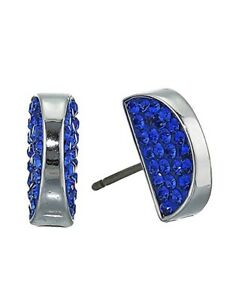 "Kate Spade ""Sliced Scallop""  Pave Stud Earrings. Light Sapphire, NWT"