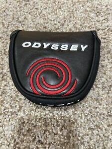 Odyssey Generic Mallet 2-Ball Putter Headcover Golf Head Cover Black / Red 502-C