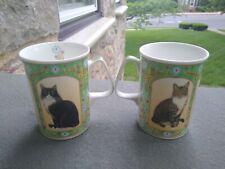 2 Sutherland. Cats mugs fine bone china made in England by Kelly Woolacott