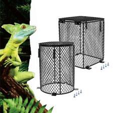 Reptile Heater Guard Heating Bulb Lamp Enclosure Black Cage Protector Mesh Cover