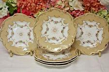 Antique English Porcelain Hand Painted Dessert Plates (6)