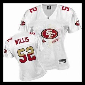 RARE NWT Size XXL Womens Reebok San Francisco 49ers Patrick Willis 52 Jersey