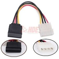 IDE Molex 4Pin Male to Serial ATA SATA 15Pin Female Power Adapter HDD Cable Cord