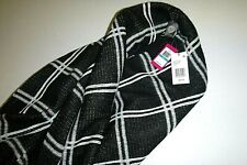 vince camuto designer CAVIR open front soft knit Black topper Wrap Poncho-100x68