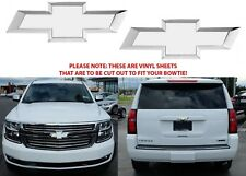 Colormatched Summit White Vinyl Bowtie Overlays For 2014-2018 Tahoe New USA