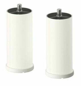 New Ikea STUVA GRUNDLIG legs, 2 pack, 003.207.42,White Colour, Adjustable Height