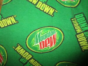 MOUNTAIN DEW PAJAMA PANTS Drink Up Throw Down Green Cotton Unisex Adult SMALL