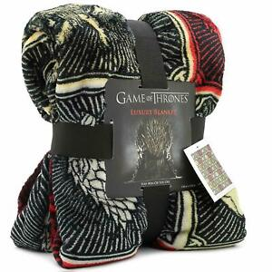 Game of Thrones Gifts Merchandise GOT Blanket Soft Luxury Bed Throw House Symbol