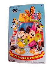 Disney phonecard. Dai- ichi- life. Mickey and minnie with friends on the road.