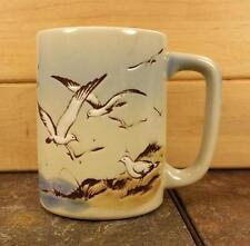 Otagiri Seagull Mug Ocean Beach Shore Birds Coffee Mug Tea Cup Blue Brown Japan