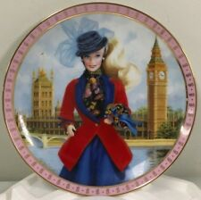 Barbie Visits England Limited Edition The Danbury Mint Plate