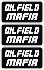 Oilfield Mafia Hard Hat Stickers | 3-pack Roughneck Motorman Decals Helmet