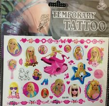 1 Pack  kid Barbie Tattoo Temporary , Party Supplies new  (buy 3 get 1 free