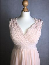 little mistress bridesmaid dress embroider shoulders size 8