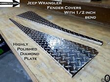 Jeep Wrangler YJ ++Highly Polished++ Diamond Plate Fender Covers With Bend.