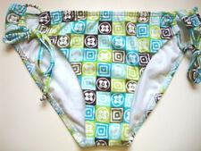 Roxy NEW Swimsuit Bikini Bottom Small 4 6 Juniors Blue Side Tie Low Sexy 960
