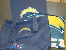 NFL Stadium Tote Bag, Cushion & Blanket, San Diego Chargers, New