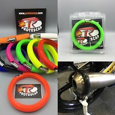 Kawasaki KX,Schalldämpferschutz,Auspuff Schutzring,Protektor,Neongrün,Arrow,BOS
