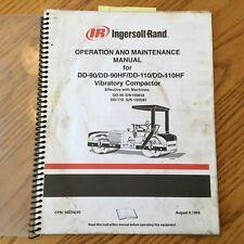 Ingersoll Rand Dd 90 Dd 110hf Operation Maintenance Manual Vibratory Compactor