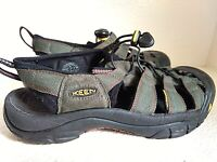 KEEN Close toe Sandals Dark Green Anti Odor Waterproof Hiking Trail Shoes Mens 8