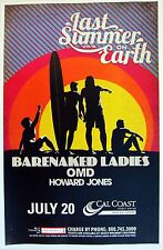 "BARENAKED LADIES / OMD ""LAST SUMMER ON EARTH"" 2016 SAN DIEGO CONCERT TOUR POSTER"