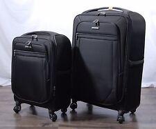 "Samsonite Ultralite 2 Nylon Black Softside Spinner Suitcase Luggage Set 21"" 27"""