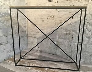 Industrial Style Minimal Narrow X Console Hall Table Modern Display Thin Framed