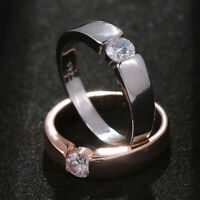 Jewelry Cubic Zircon Women Men's Ring Crystal Silver Plated Imperil crown