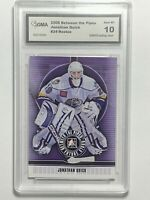 2008 Jonathan Quick Between The Pipes #24 Rookie RC Card Kings GMA 10 GEM MINT