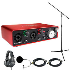 Focusrite Scarlett 2i2 USB Audio Interface (2nd Generation) w/ Headphone Bundle