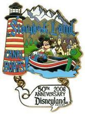 Disney Pin 46853 DLR Storybook Land Canal Boats 50th Anniversary Disneyland LE