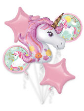 Magical Unicorn Balloon Bouquet ~ Girls Birthday Decorations Party Supplies 5pcs