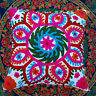"""Christmas Decor Suzani Pillow/Cushion Covers Indian Embroidered Cases Square 16"""""""