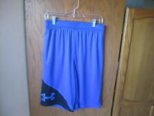 Under Armour Youth Blue/Black Loose Fit Active Athletic Shorts Yxl