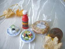 =4er-SET für die Grillparty= Puppenküchenminiatur Fimo 1:12 / 1:10 by HW