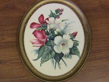 Vintage Ernest Thompson SetonBotanical Print  in Oval Frame