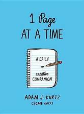 NEW 1 Page at a Time (Blue): A Daily Creative Companion by Adam J. Kurtz