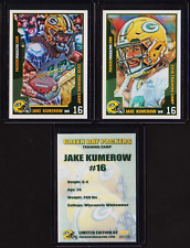 2) 1st ever JAKE KUMEROW ROOKIE card RC Packers Mag Promo Art 2018 Training Camp