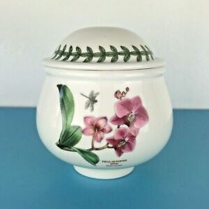 Portmeirion Exotic Botanic Garden Lidded Sugar Bowl Pink Moth Orchid Romance