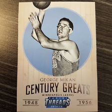 George Mikan 2014-15 Panini Threads Century Greats