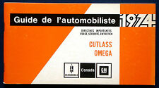 Owner's Manual * Betriebsanleitung 1974 Oldsmobile Cutlass + Omega  (CDN)