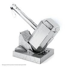 Metal Earth 3D Laser Cut Steel Model Kit Marvel Mjolnir Thor's Hammer Toy Gift