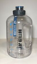 Bottled Joy 2.2 L 75 Oz Large Water Bottle Half Gallon Hydration PBA Jug