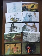 10 The Art Of Disney Renaissance Beyond 1989-2014 Postcards 1998 Mulan
