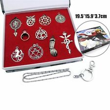 Fullmetal Alchemist Keys Necklace Pendant Keychain with Box Cosplay 10pcs/Set