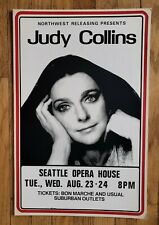 Vintage (1977) JUDY COLLINS folk country rock Seattle Concert cardboard POSTER
