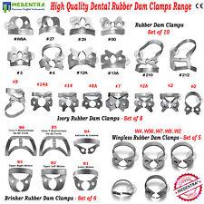 Assortment of  Rubber Dam Clamps Dental Tissue Retractors Ivory Endodontics Lab