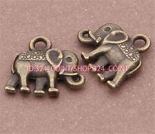 P236 20pcs Antique Bronze elephant Pendant Bead Charms Accessories wholesale